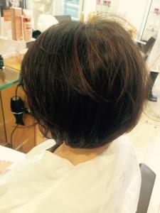 coiffure Carré dégradé henné